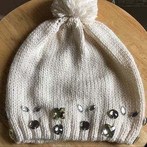 Betsey Johnson Gemmed Knitted Beanie